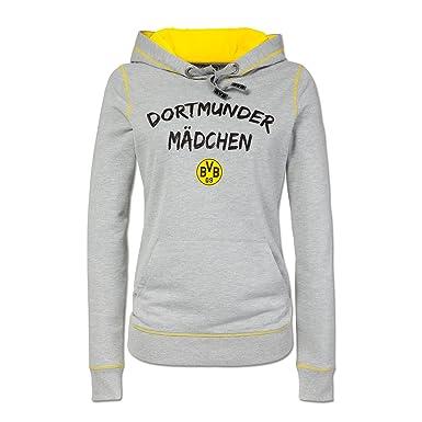 Borussia Dortmund Dortmunder M/ädchen-Sweatjacke anthrazit