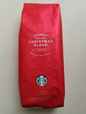 2017 starbucks xmas blend ground coffee 1 pound bag