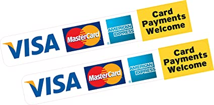 2 x los pagos de tarjeta de bienvenida tarjeta de crédito Visa ...