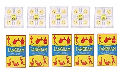 Virgo Toys Brain Lock & Tangram (Combo) - Pack of 5