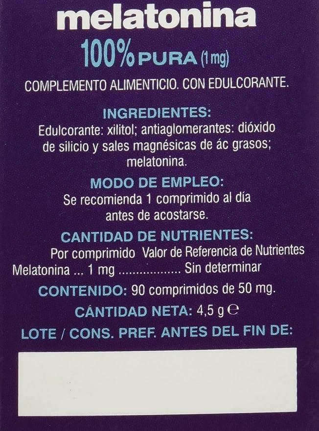 Soria Natural Melatonina Vitaminas - 90 Cápsulas
