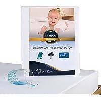 SLEEPZEN Protector de Colchón Cuna Impermeable 60x120, Muletón 100%, Cubre Colchón de Nueva generación - Anti-ácaros…
