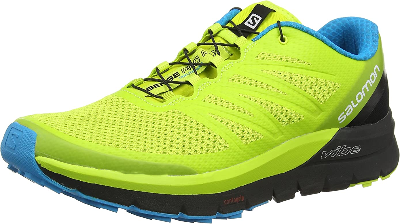 Salomon Sense Pro MAX, Zapatillas de Trail Running para Hombre, Amarillo (Amarillo/(Lime Punch./Black/Hawaiian Ocean) 000), 42 EU: Amazon.es: Zapatos y complementos