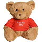 Teddy Bear I Love You Message 25 cm White/Beige/Brown