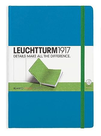 LEUCHTTURM1917 346747 Notebook Medium (A5), 249 numbered pages, BiColore, plain, AzureLime