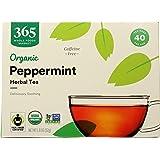 365 by Whole Foods Market, Organic Herbel Tea - Caffeine Free, Peppermint (40 Tea Bags), 1.8 Ounce