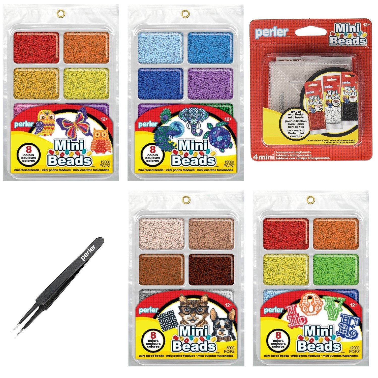 Perler Mini Beads: Cuencas Neutral Y Rainbow Total 20.000un
