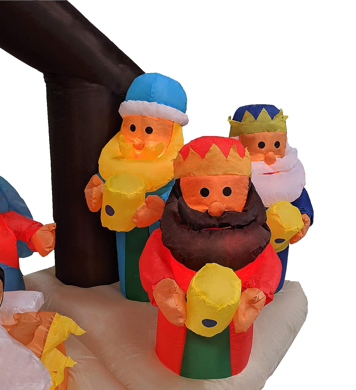 182,88 cm Navidad Portal de Belén inflable con decoración ...