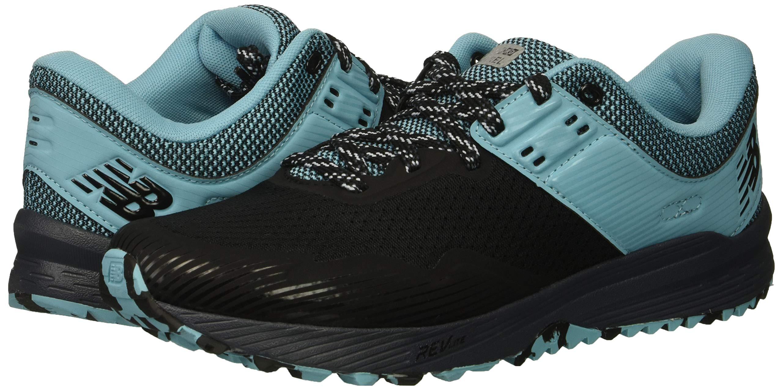 New Balance Women's Nitrel V2 FuelCore Trail Running Shoe, Black/Thunder/Enamel Blue, 6 B US by New Balance (Image #6)