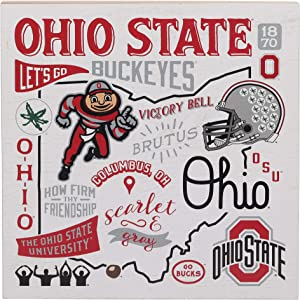 Open Road Brands Ohio State University Collage Wood Wall Decor
