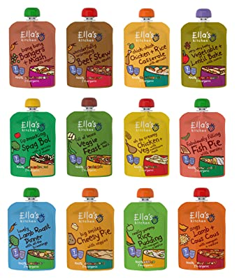 ellas kitchen stage 2 mixed case selection from 7 month 11 x 130g 1 x - Ellas Kitchen