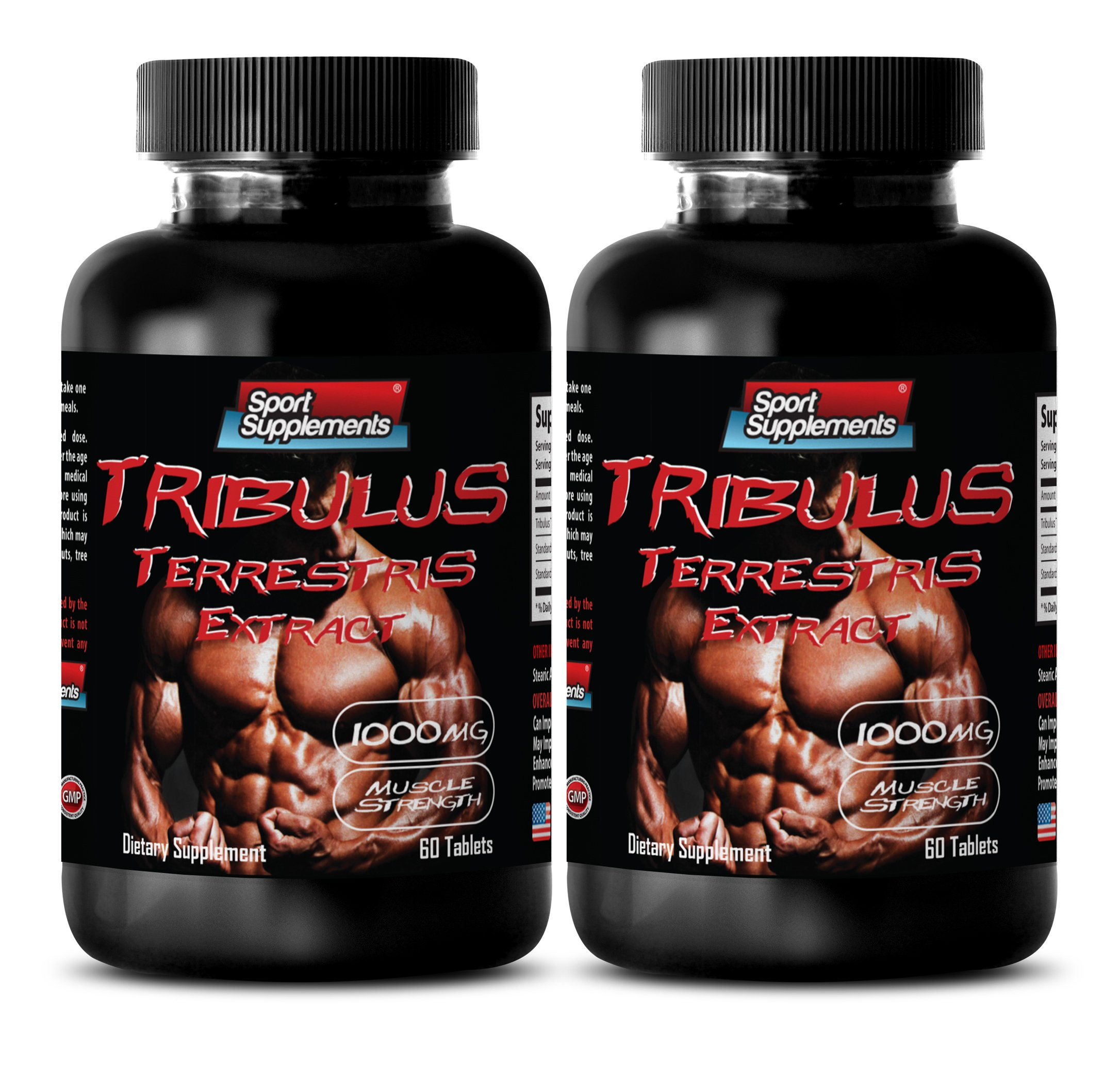 Tribulus terrestris - TRIBULUS TERRESTRIS EXTRACT 1000mg with Standardized 400mg Natural Saponins - Sexual health - 2 Bottles 120 Tablets