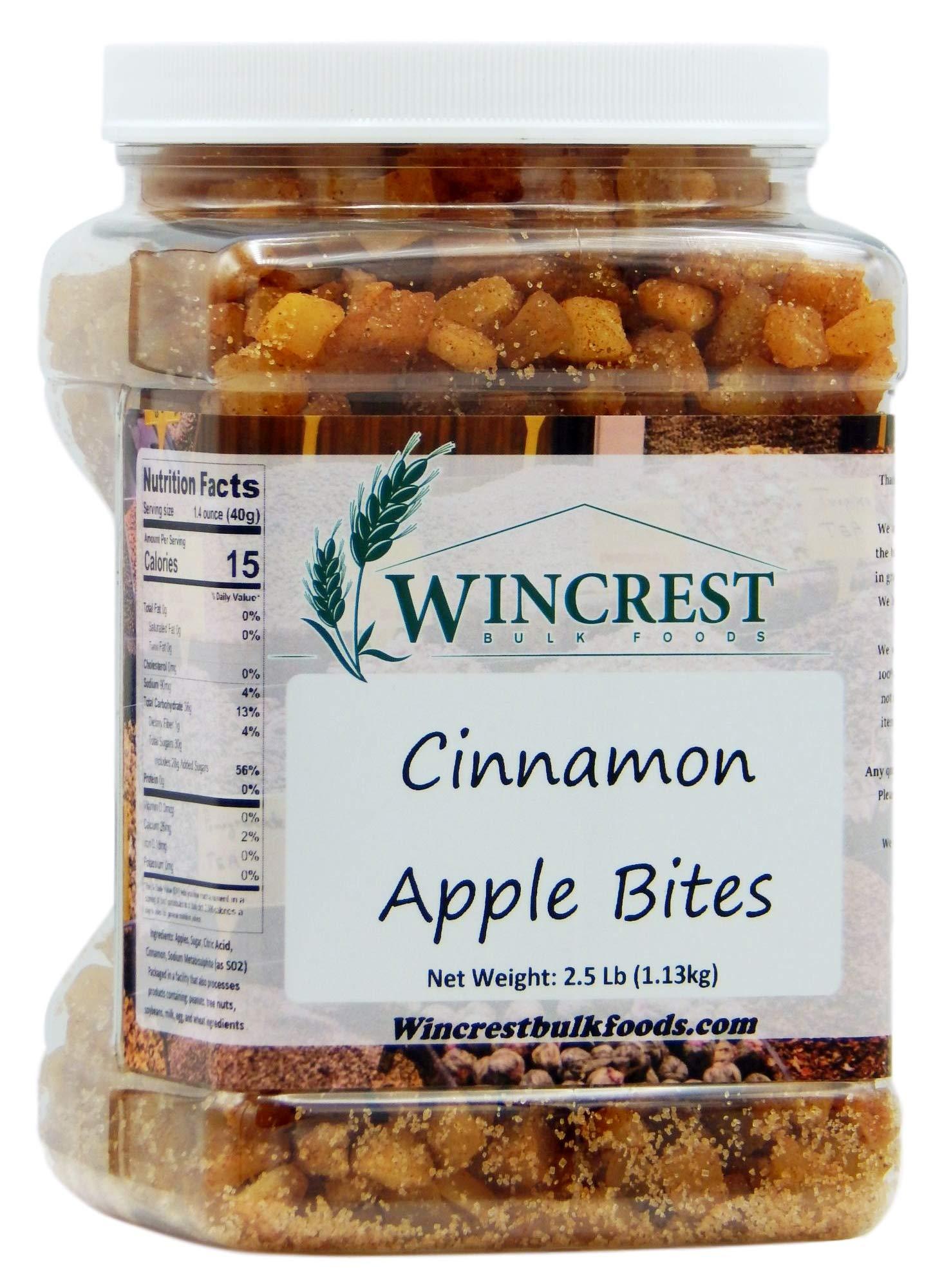 Dried Cinnamon Apple Bites - 2.5 Lb (1.13kg) Tub