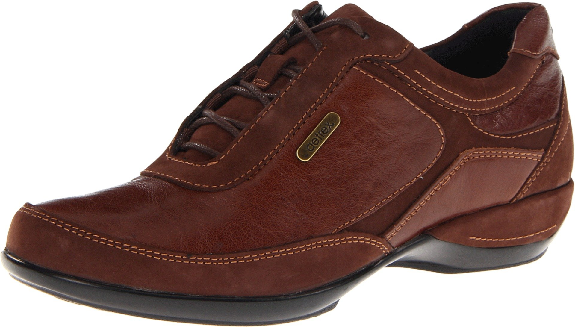 Aetrex Women's Holly Lace-Up Oxford, Brown, 6 M US