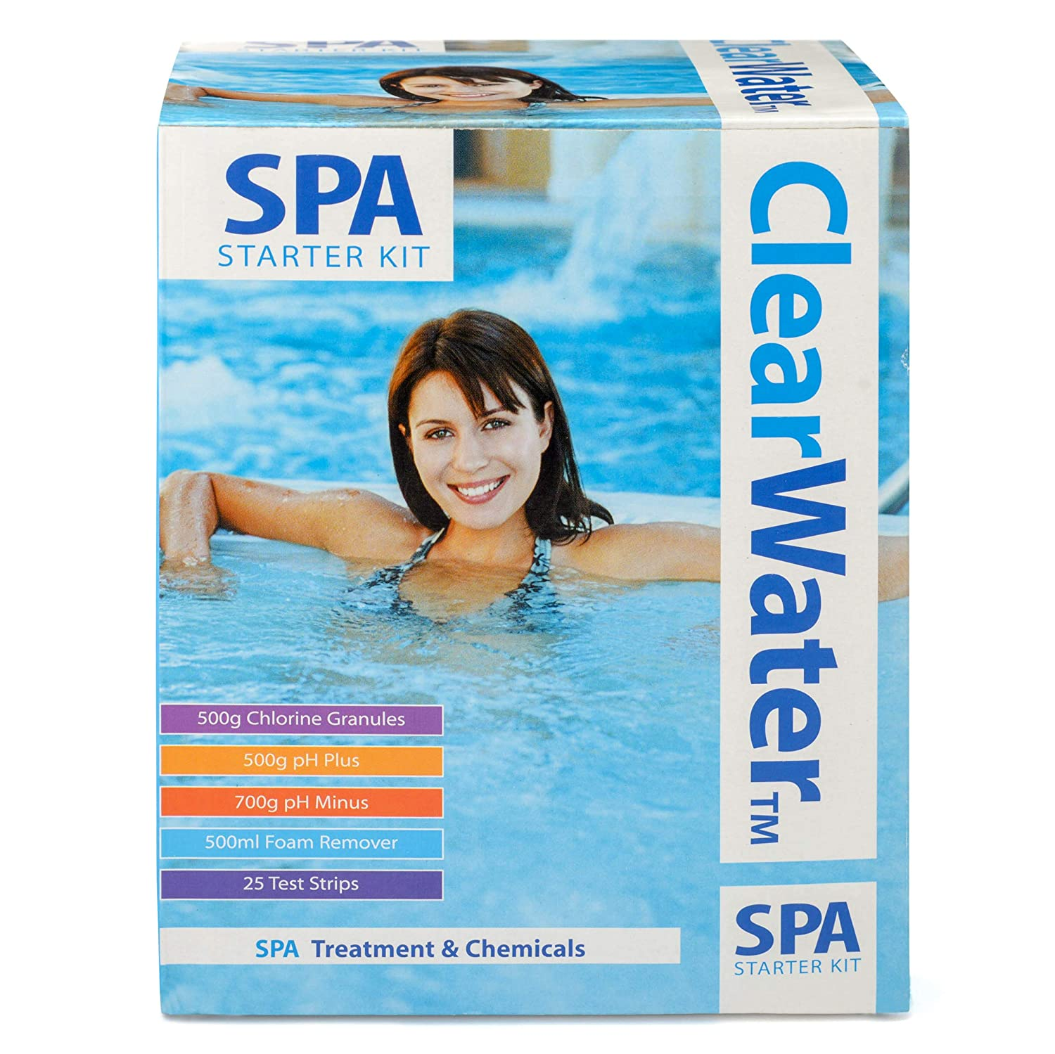 8c4d027fff Clearwater CH0018 Lay-Z-Spa Chemical Starter Kit for Hot Tub and Spa  Treatment: Amazon.co.uk: Garden & Outdoors