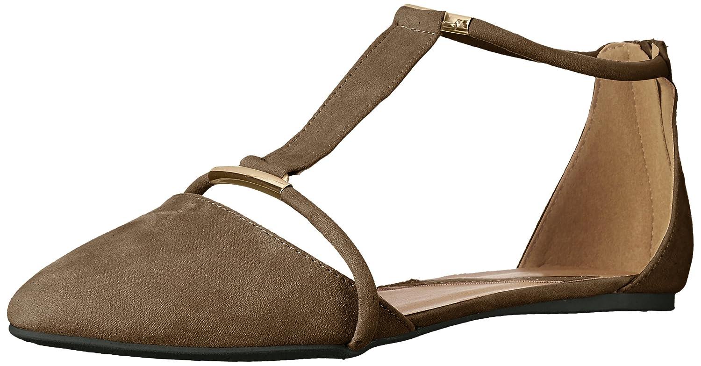 Qupid Women's Swift-133 Pointed Toe Flat B01MEHNQFD 8.5 B(M) US|Khaki