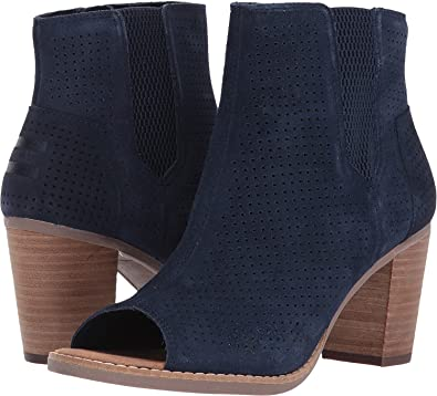 552ae0830 Amazon.com | TOMS Women's Majorca Peep Toe Bootie Navy Suede Perforated  Sandal | Sandals