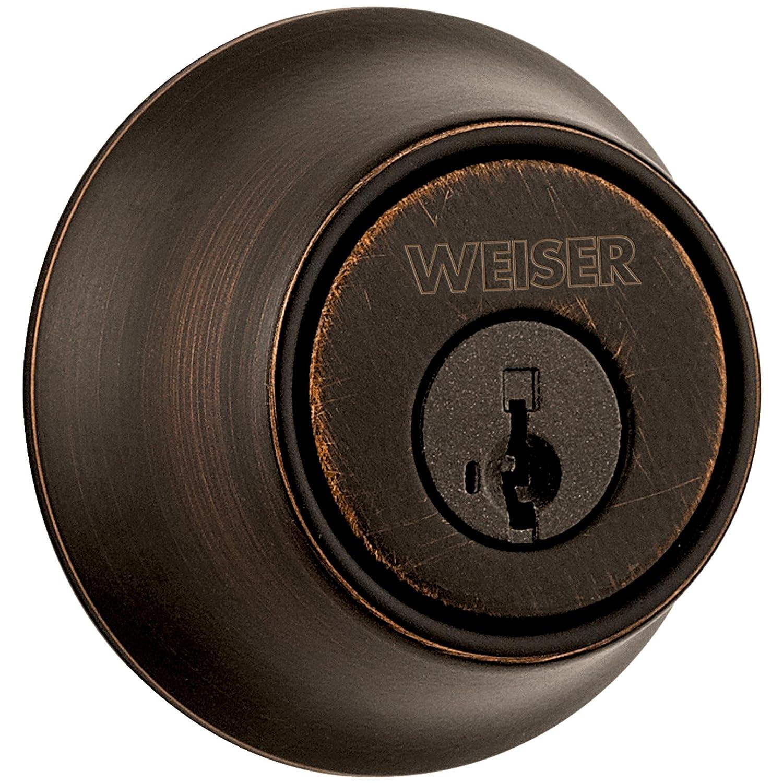 Weiser GDC947111PK3SMTMS6LS2R2 Deadbolt Elements Single Cylinder Kw-1 Keyway Ansi Gr 3