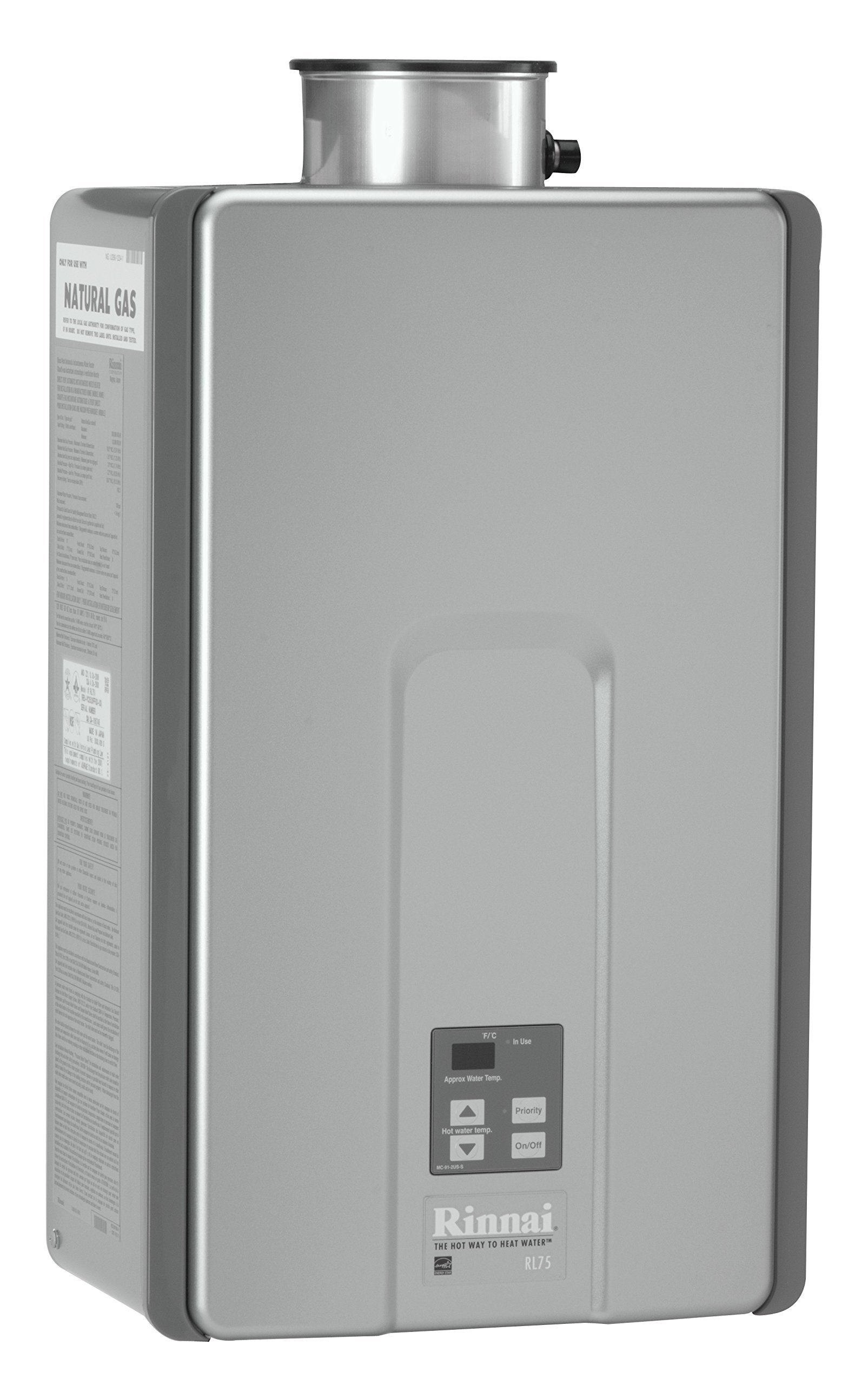 Rinnai RL75iN Natural Gas Tankless Water Heater, 7.5 Gallons Per Minute by Rinnai (Image #3)