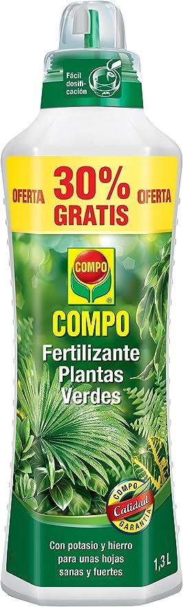 Oferta amazon: Compo Verdes para Plantas de Interior, balcón y terraza, Fertilizante líquido con Extra de potasio y Hierro, 1.3 L, 1444412011