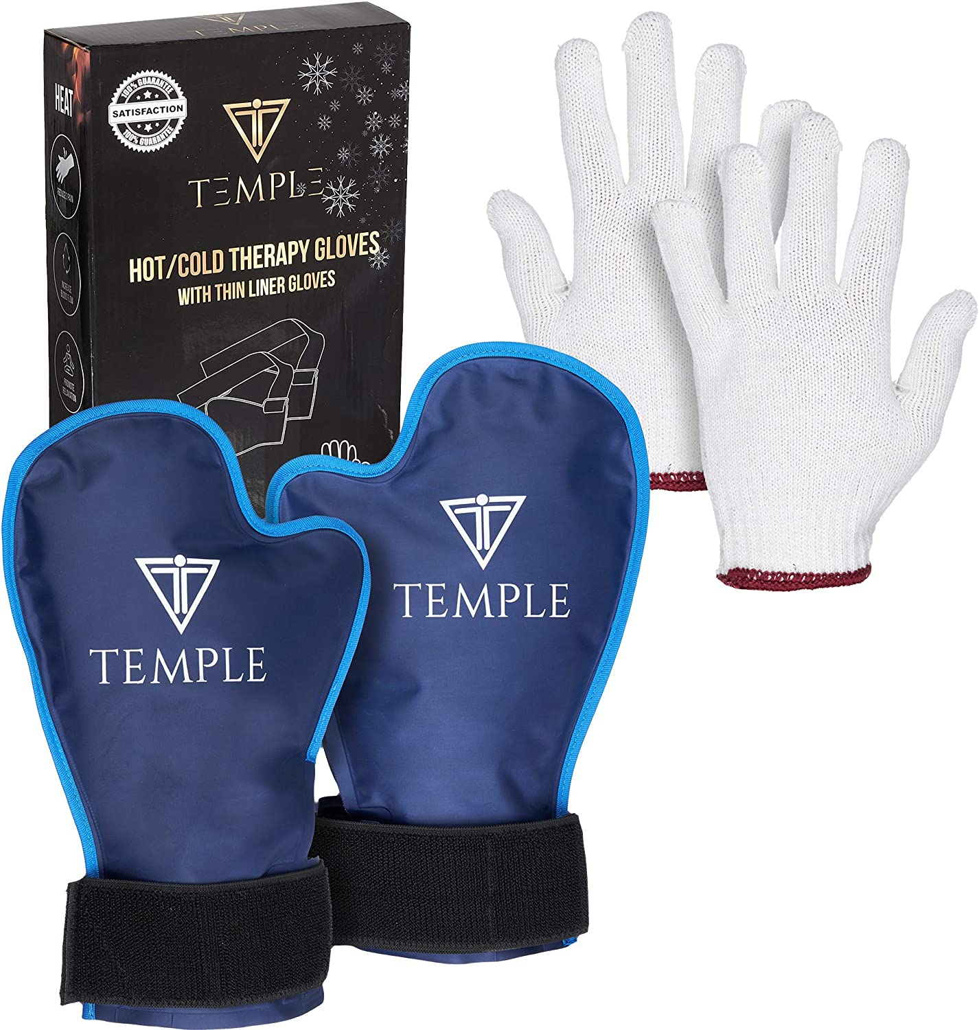 2 Premium Hot/Cold Therapy Gel Gloves with Glove Liners. Great Recovery for Chemotherapy, Cryotherapy, Sore, Aching, inflamed Hands.