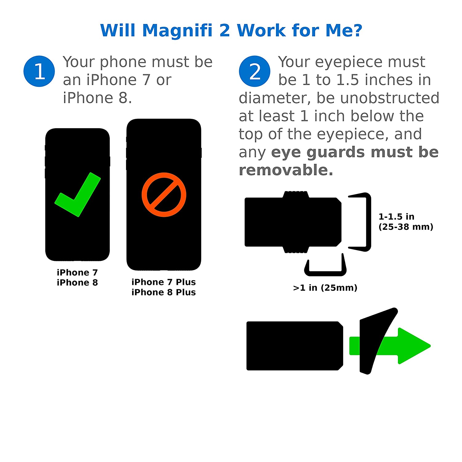 Magnifi 2 for iPhone 7 and 8 - Photo Adapter Case for