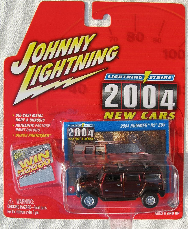 Johnny Lightning Lightning Strike 2004 New Cars 2004 Hummer H2 SUV Dark ROT  7 by Playing Mantis