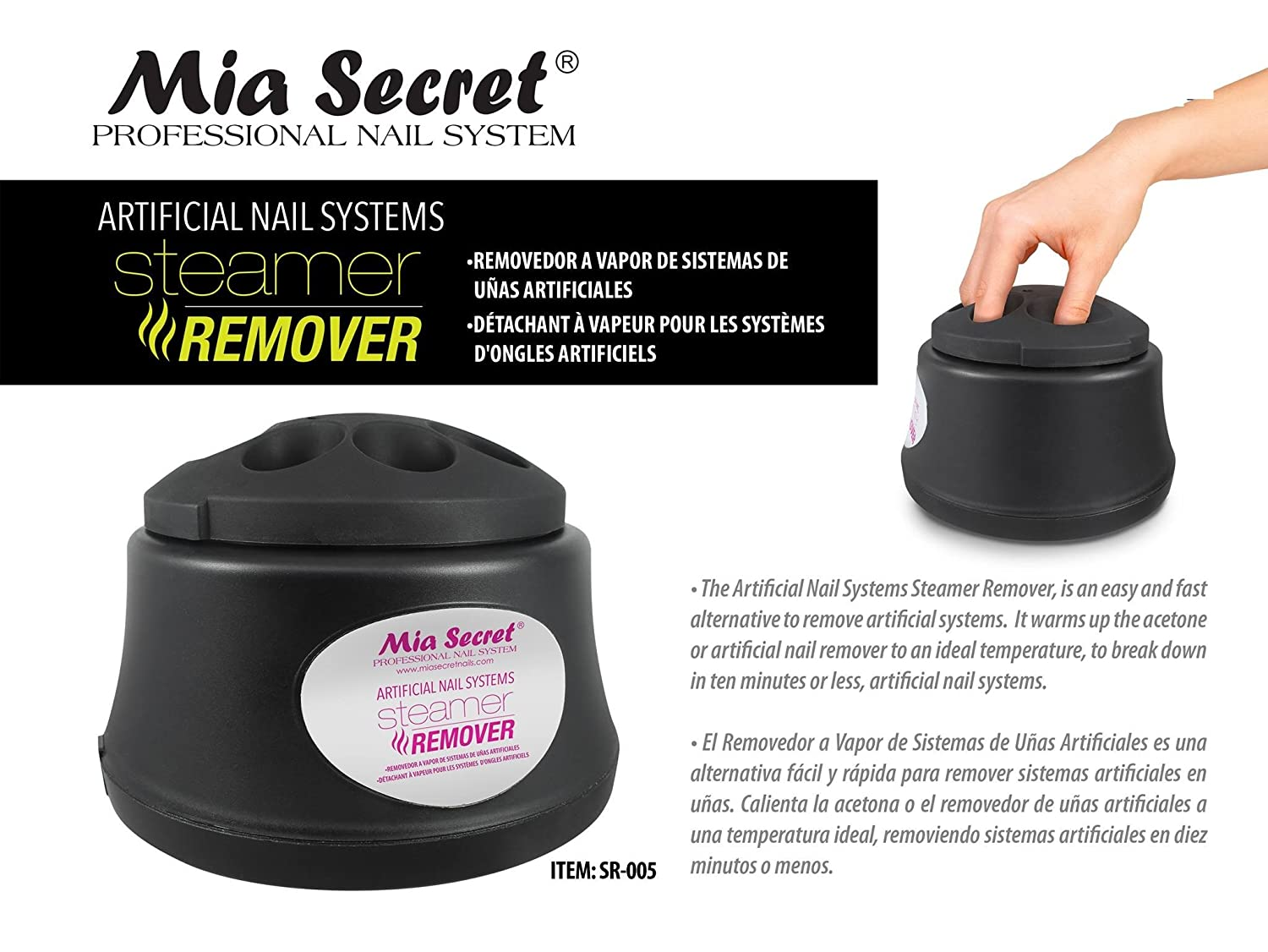 Mia Secret Professional Artificial Nail Remover Systems Acrylic or Gel Nail Steamer Remover