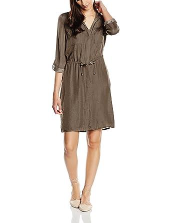 ESPRIT Collection Damen Kleid 056EO1E032-Fließende Qualität, Braun (Taupe  240), 44 8c7f60590a