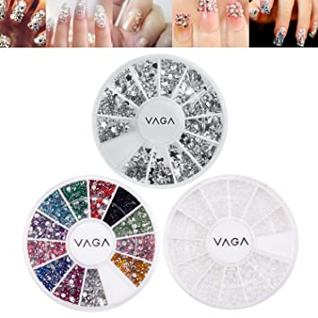 Amazon High Quality Professional Nail Art Set With Silver Gems
