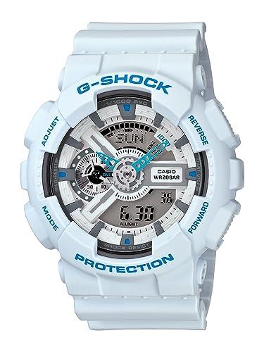 Casio GA110SN-7A - Reloj de pulsera hombre, Resina, color Blanco: Casio: Amazon.es: Relojes