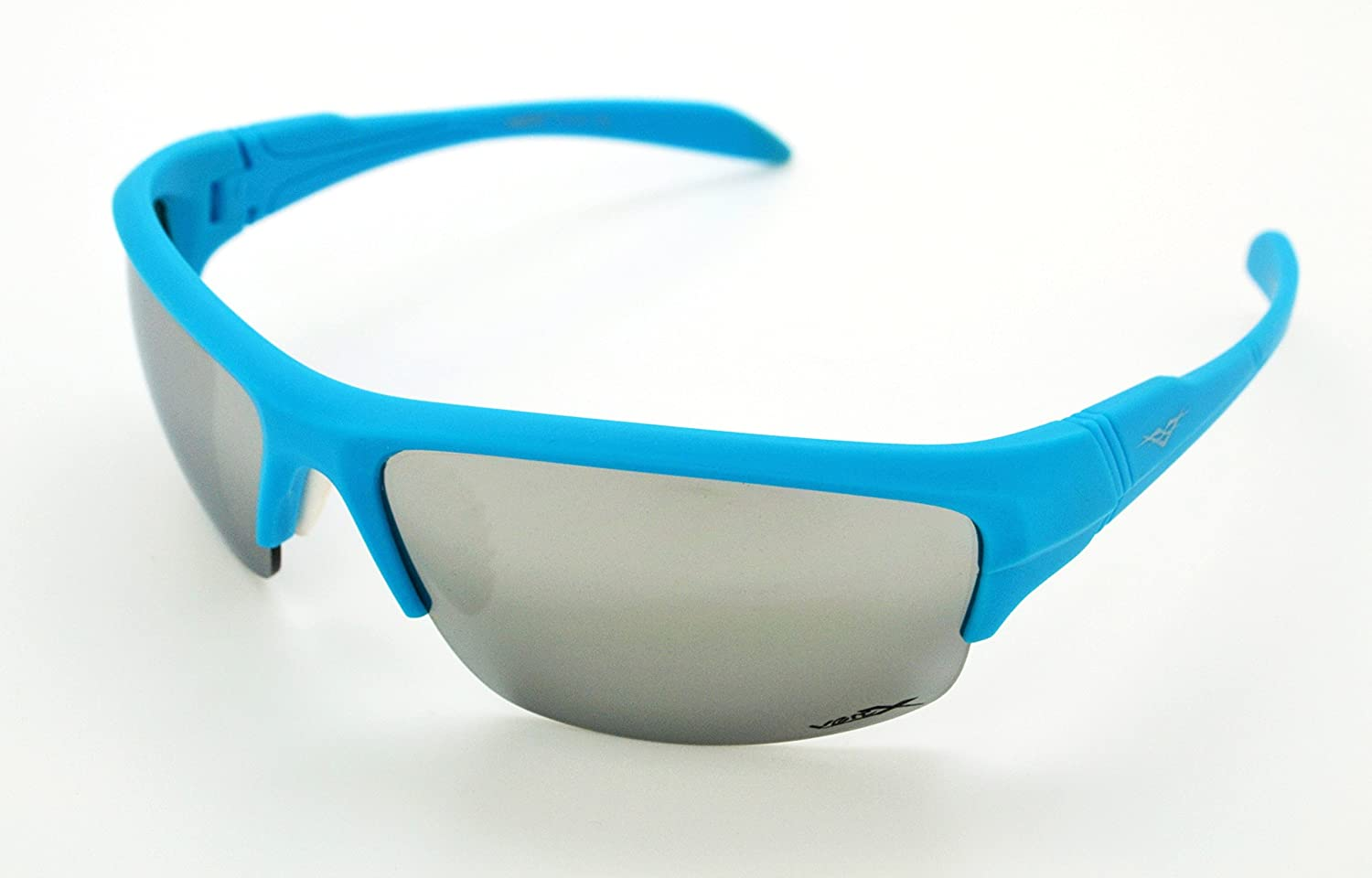 8e10968dad77 Amazon.com  VertX Lightweight Durable Mens   Womens Athletic Sport Wrap  Sunglasses Cycling Running w FREE Microfiber Pouch - Blue Frame - Silver  Lens  ...