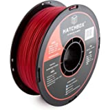 HATCHBOX 3D ABS-1KG1.75-RED ABS 3D Printer Filament, Dimensional Accuracy +/- 0.05 mm, 1 kg Spool, 1.75 mm, Red