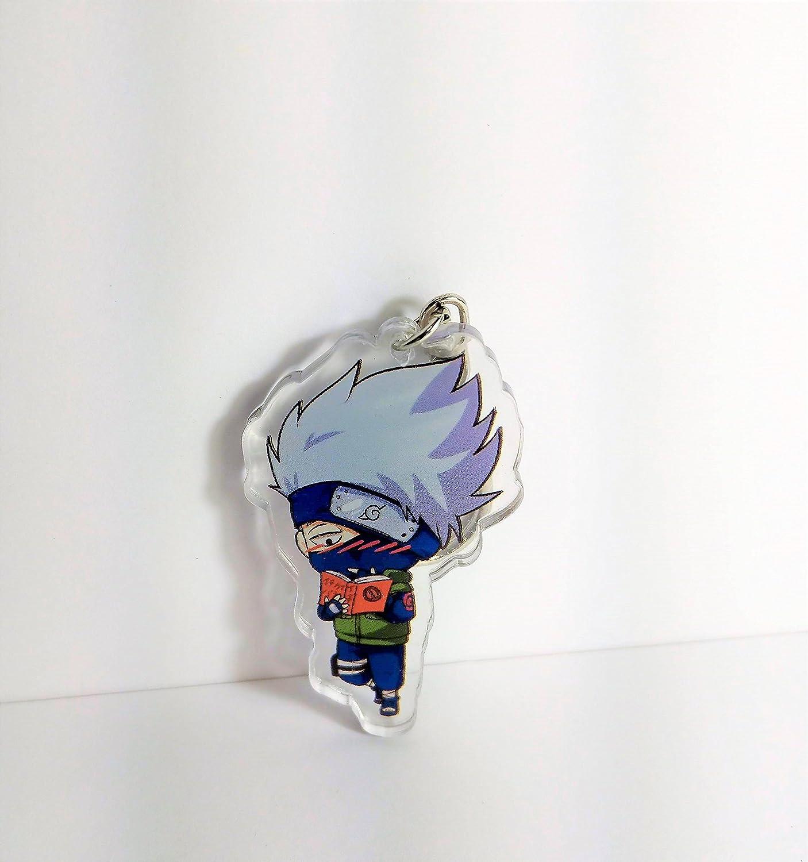 Kakashi Keychain/Kakashi Pendant, The Copy Ninja in Naruto Reading a Book