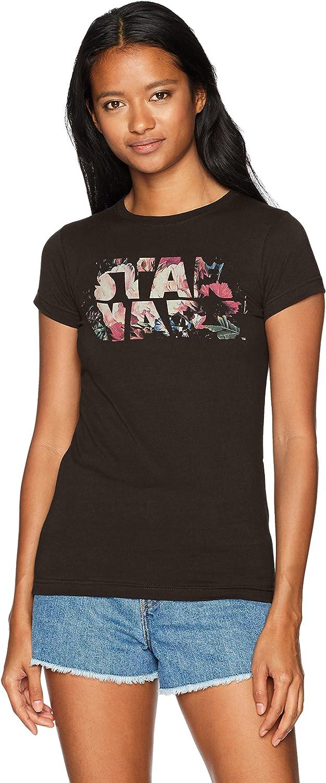Star Wars Floral Logo Womens Tee Shirt Black