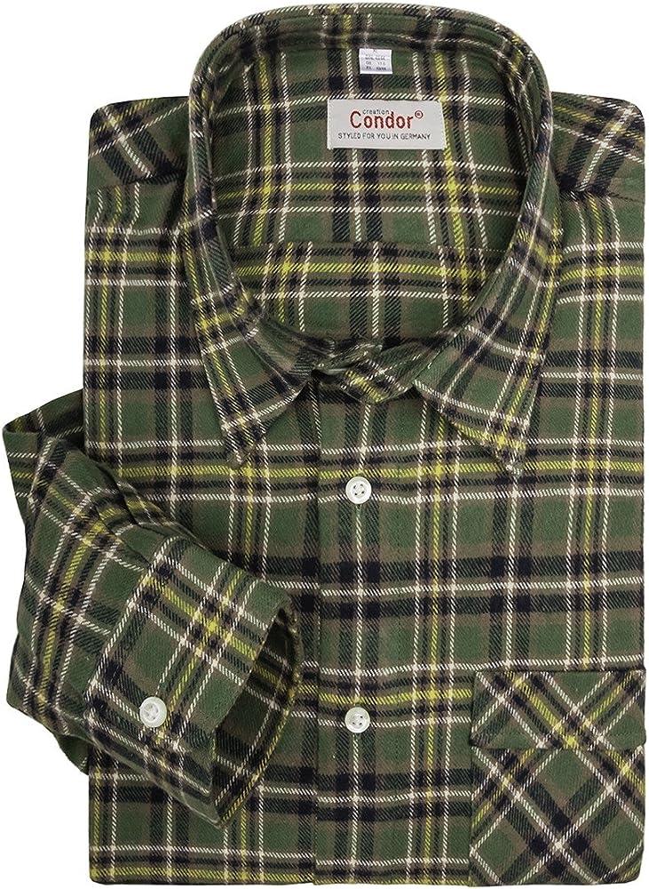 Camisa a cuadros oliva y amarilla Condor tallas XXL, 45/46-55/56:43/44: Amazon.es: Ropa y accesorios