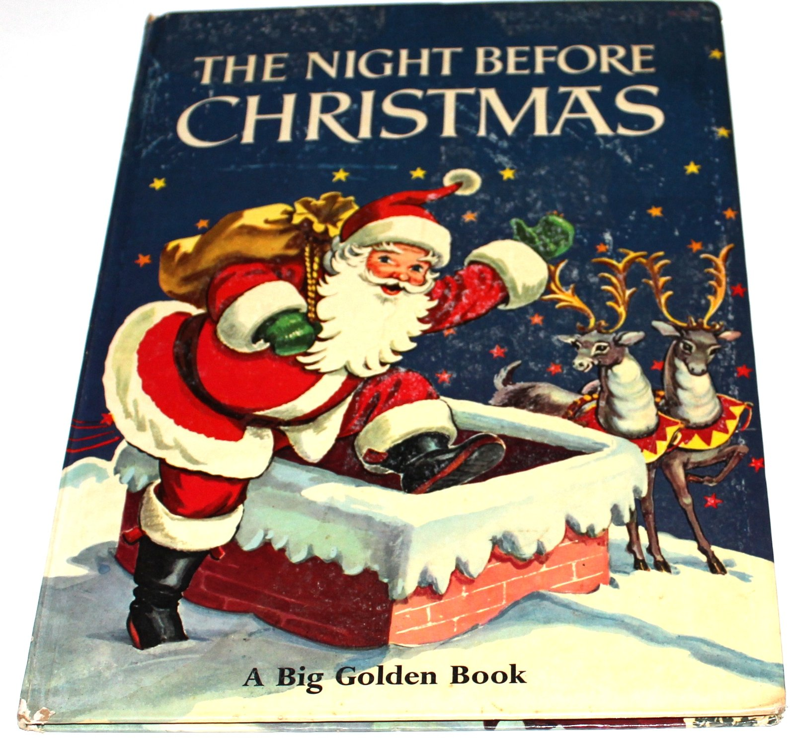 the night before christmas a big golden book clement c illustrated by corinne malvern moore amazoncom books - Night Before Christmas Book