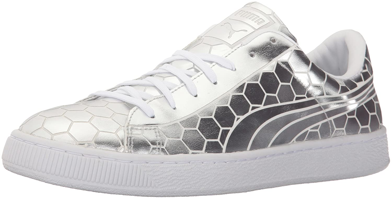 best sneakers 9534e 5c8b6 PUMA Men's Basket Classic Metallic Fashion Sneaker