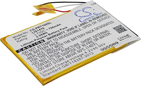 CS-PRT100SL Batería 700mAh Compatible con [Sony] PRS-T1, PRS-T2 ...
