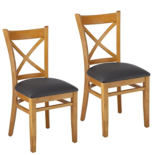 Beechwood Mountain BSD- Solid Beech Wood Side Chairs in Cherry for Kitchen and dining, set of 2