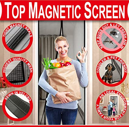 Magnetic screen door 2018 mesh screen door with magnets fly magnetic screen door 2018 mesh screen door with magnets fly mosquitos bug insect screen for planetlyrics Choice Image