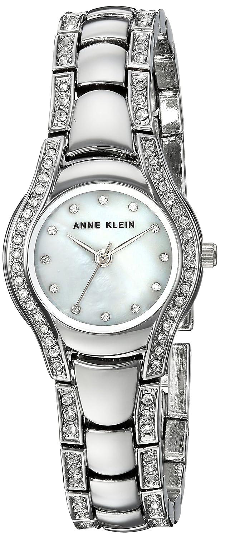 Anne Klein Womens AK/2885MPSV Swarovski Crystal Accented Silver-Tone Bracelet Watch