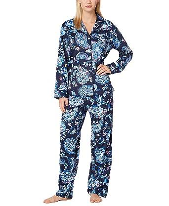 388ae0bb9e Lauren Ralph Lauren Women s Classic Lawn Paisley Pajama Set (Blue Multi  Paisley