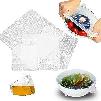 2 Set Kitchen Silicone Elastic Wrap Lids Bowl Covers Fresh-Care ECO-FRIENDLY