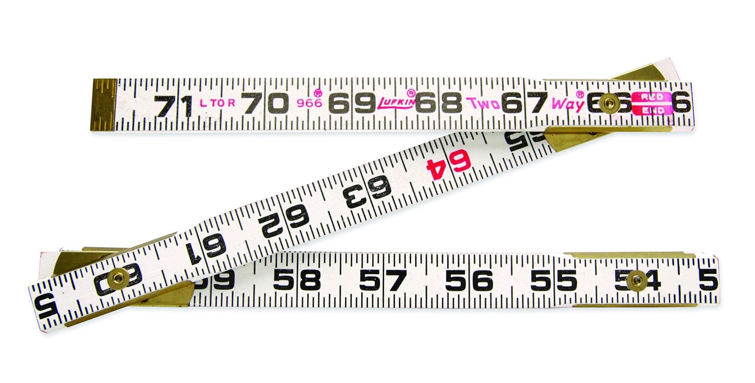 Coopertools 966 6-Inch x 5/8-Inch Wood 2-Way Fold Ruler
