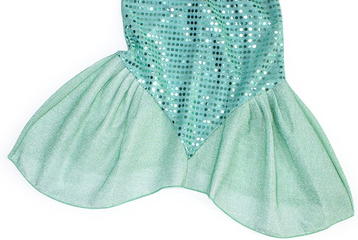 AmzBarley Little Mermaid Costume Ariel Dress up Girls Kids Fish Tail Party Fancy Dresses Halloween Costumes Clothes Holiday Birthday Outfit
