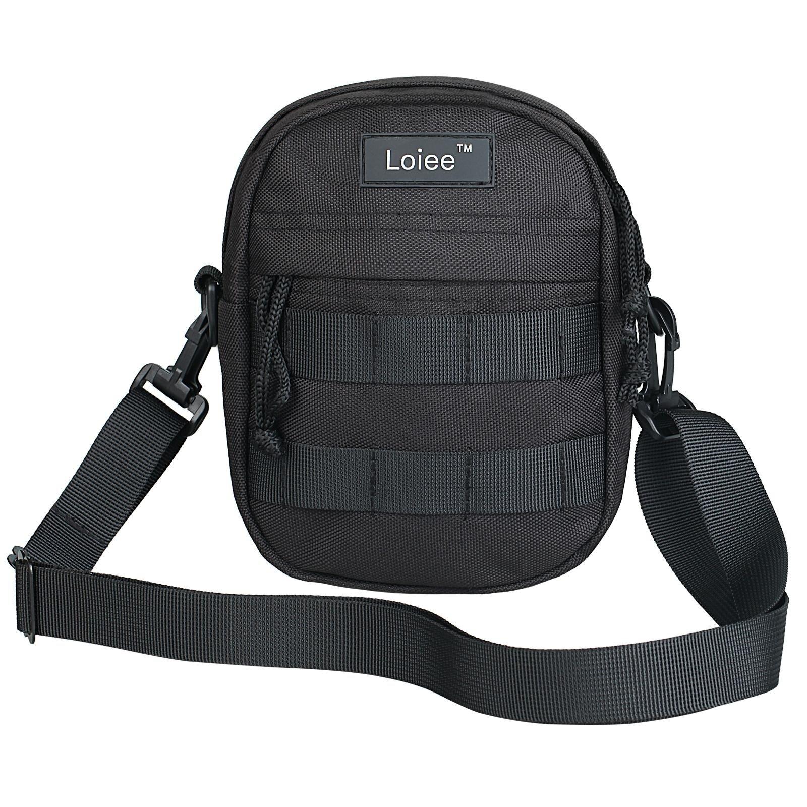Loiee Mini Nylon Messenger Bag,Samll Shoulder Bag