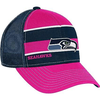 d02f07e4571 Amazon.com   Reebok Seattle Seahawks Women s Breast Cancer Awareness  Trucker Hat Adjustable   Sports Fan Baseball Caps   Sports   Outdoors