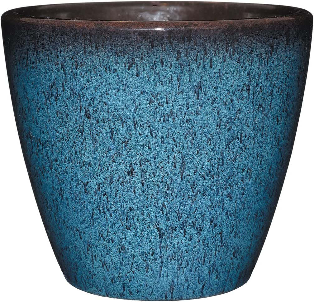 "Classic Home and Garden 807-375R Vogue Planter, 8"", Indigo"