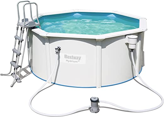 Best Way - Piscina desmontable de acero hydrium 300x120 cm + depuradora de cartucho bestway: Amazon.es: Jardín